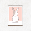 Kids' Art Print – Cute Rabbit Wall Decor and Hanging Art