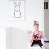 Olivia Rabbit Monochrome Print