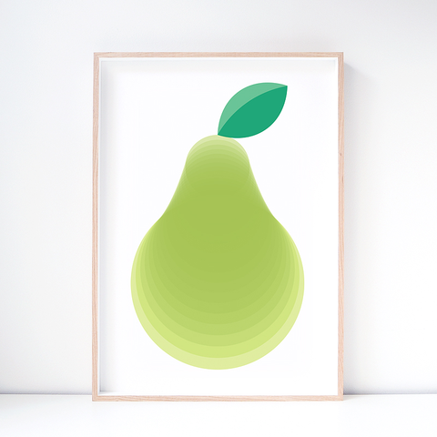 Pear Fruit Art Print – Wall Art and Nursery Decor