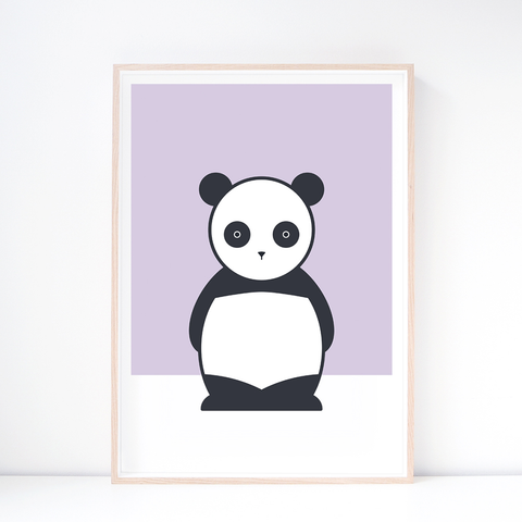 Kids' Art Print – Cute Panda Wall Art and Nursery Decor
