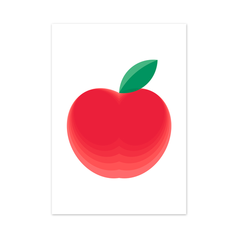 red delicious apple fruit art print modern wall art by hues fables