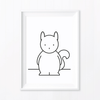 Kids' Art Print – Cute Squirrel Printed Art and Nursery Decor