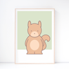 Kids' Art Print – Cute Squirrel Wall Art and Nursery Decor