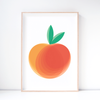 Peach Fruit Art Print – Wall Art and Nursery Decor
