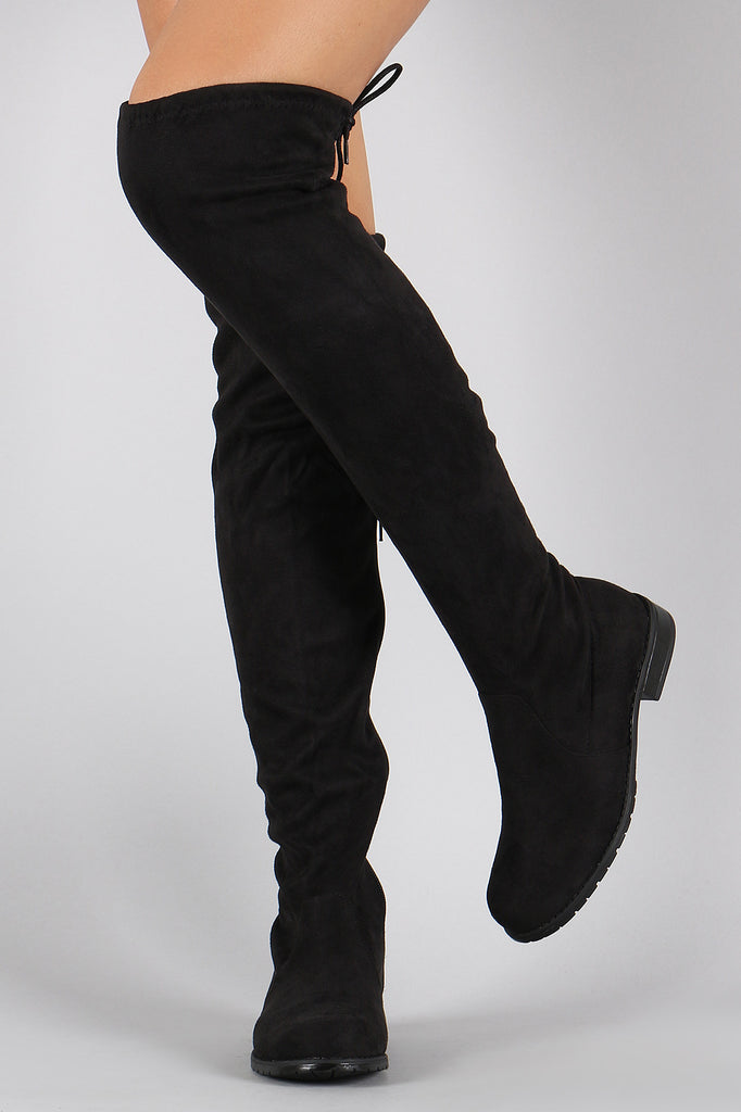 e0c2ba096d0 Bamboo Suede Drawstring Over-The-Knee Flat Boots – Jacob Marxx