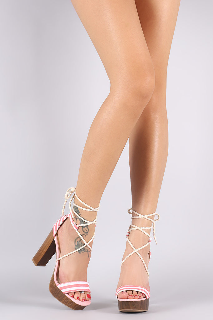 a0022c6e4bf Wild Diva Lounge Suede Stripe Rope Lace Up Chunky Platform Heel – Jacob  Marxx