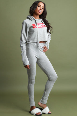 Super Hoodie Two Piece Tracksuit Set