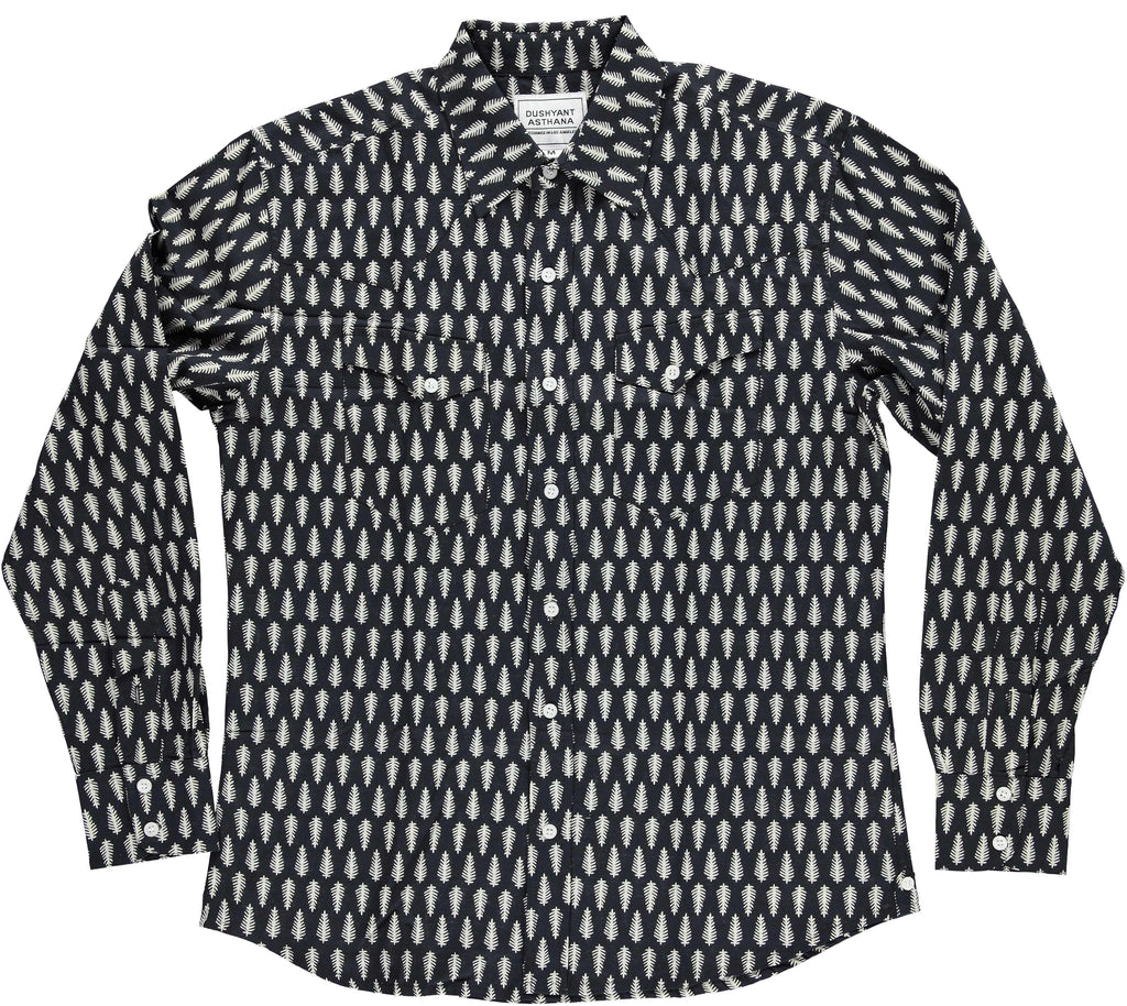'The Bandit' Western Shirt in 'Douglas Fir' Print