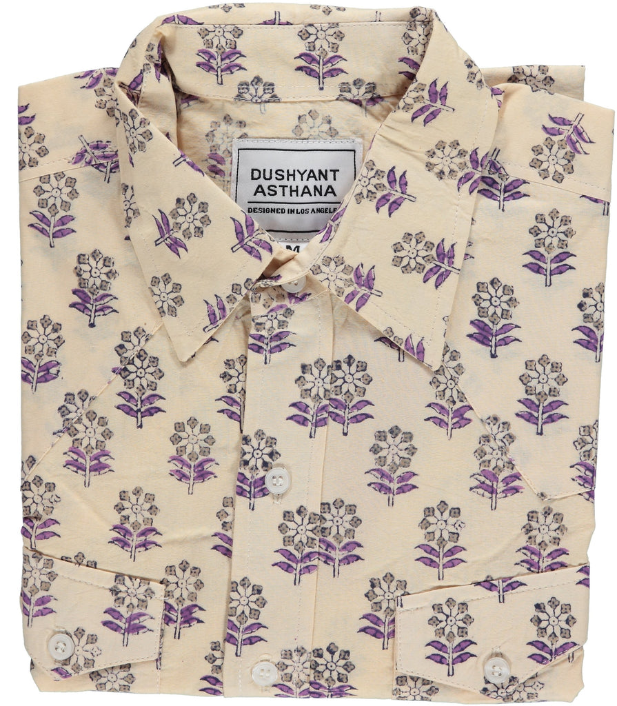 'The Bandit' Western Shirt in 'Floral' Print