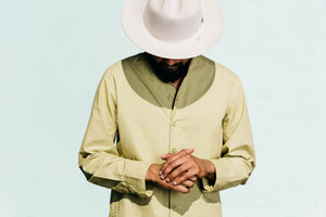Garment Dyed Oversized 'Jaipur' Shirt in Khaki