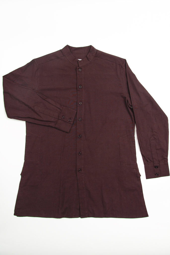 Garment Dyed Oversized 'Jaipur' Shirt in Fired Brick