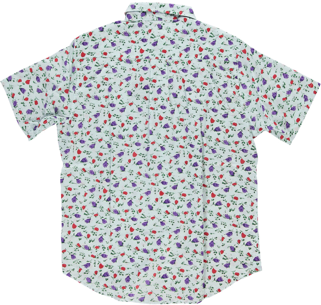 Light-Blue Hand-Printed 'The Folk' Short Sleeve Shirt