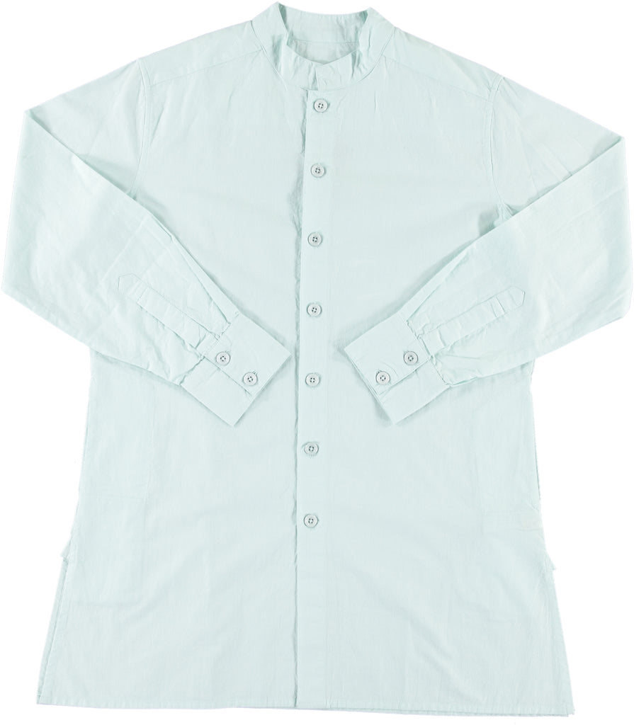 Garment Dyed Oversized 'Jaipur' Shirt in Pastel Blue