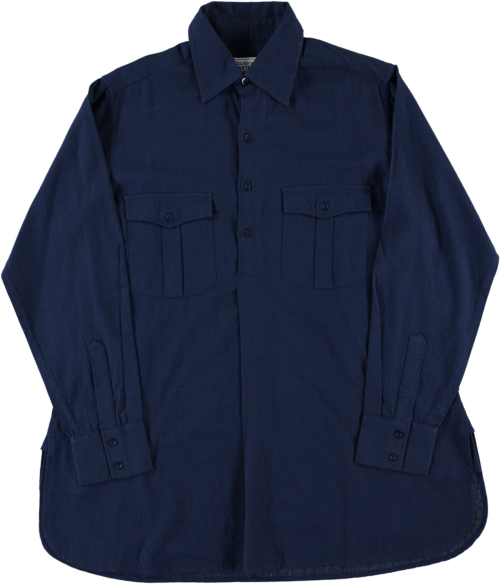 'The Kameez' Oversized Shirt in Mood Indigo