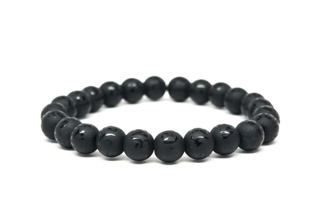 Black Onyx Beaded Mens Bracelet - Orti Jewelry
