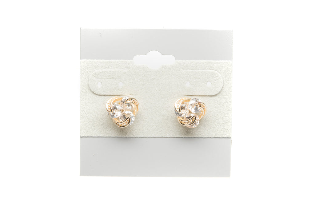 Zirconia Swirl with Cubic Zirconia Fashion Earrings