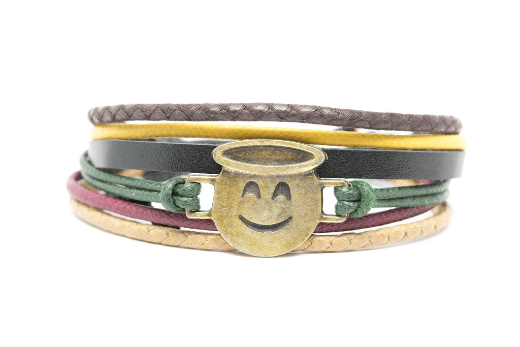 Emoji Bracelet Smiling Face With Halo - Orti Jewelry