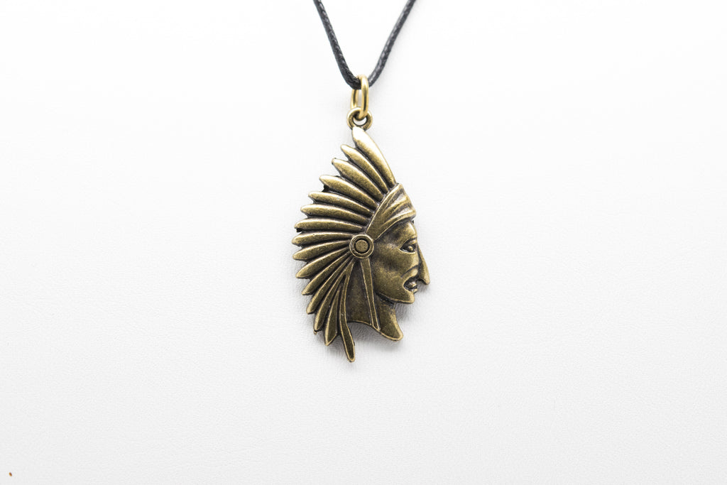 Apache Unisex Necklace with Rope - Orti Jewelry