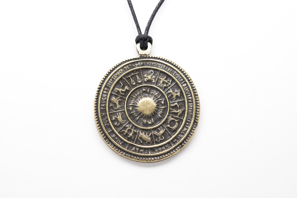 Astrology Signs Unisex Necklace with Rope - Orti Jewelry