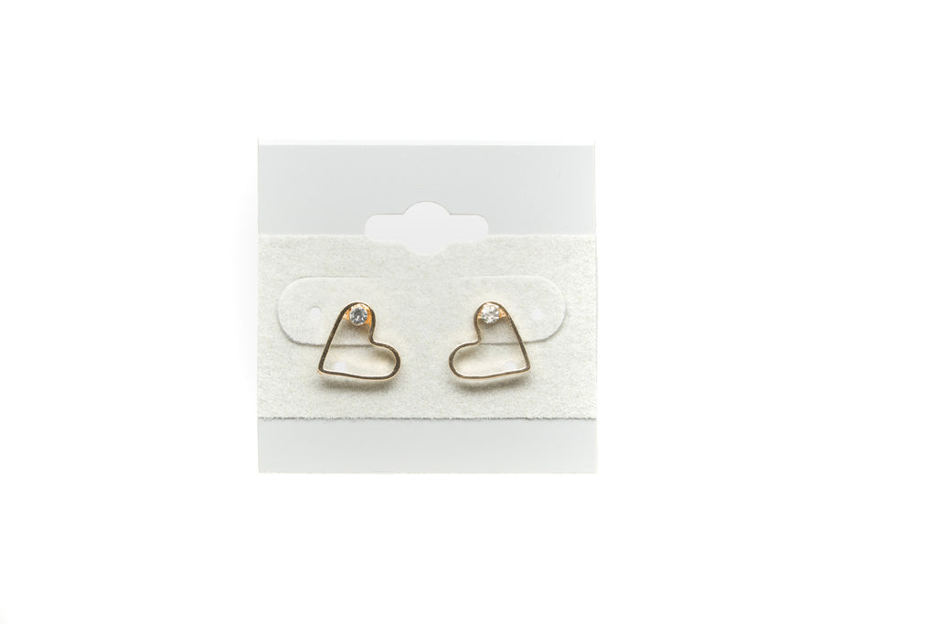 Heart with Cubic Zirconia Fashion Earrings - Orti Jewelry