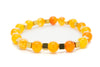Orange Agate Gemstones Beaded Bracelet for Men and Women