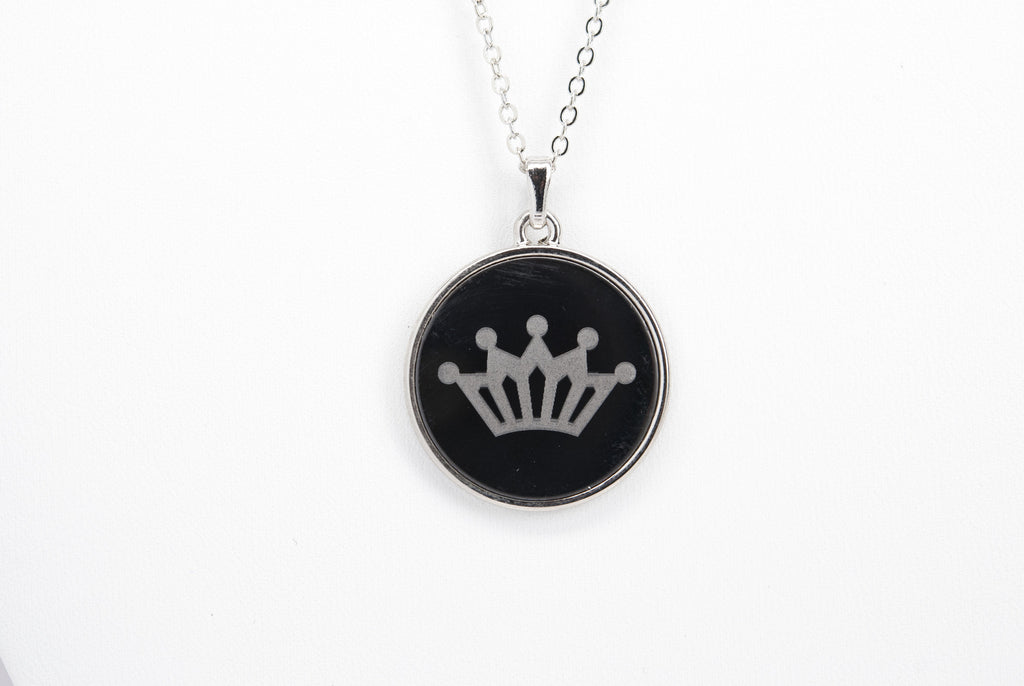 Crown Necklace with Aluminum Rolo Chain - Orti Jewelry