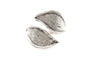 Leaf Wrap Antique Silver Plated Adjustable Ring - Orti Jewelry