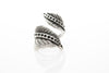Wrap Antique Silver Plated Adjustable Ring