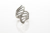 Wings Antique Silver Plated Adjustable Ring - Orti Jewelry