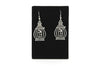 Bird Cage Antique Silver Plated Earrings with French Style Hooks - Orti Jewelry