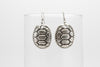 Turtle Antique Silver Plated Earrings with French Style Hooks - Orti Jewelry