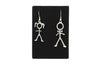 Stickmen and Stick Women Antique Silver Plated Earrings with French Style Hooks - Orti Jewelry