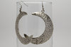 Moon Antique Silver Plated Earrings with French Style Hooks - Orti Jewelry