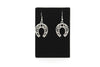Horseshoe Antique Silver Plated Earrings with French Style Hooks - Orti Jewelry