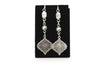 Antique Silver Plated Earrings with French Style Hooks - Orti Jewelry