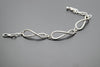 Forever Antique Silver Plated Vintage Bracelet with Adjustable Length - Orti Jewelry