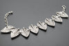 Leaves Antique Silver Plated Vintage Bracelet with Adjustable Length - Orti Jewelry