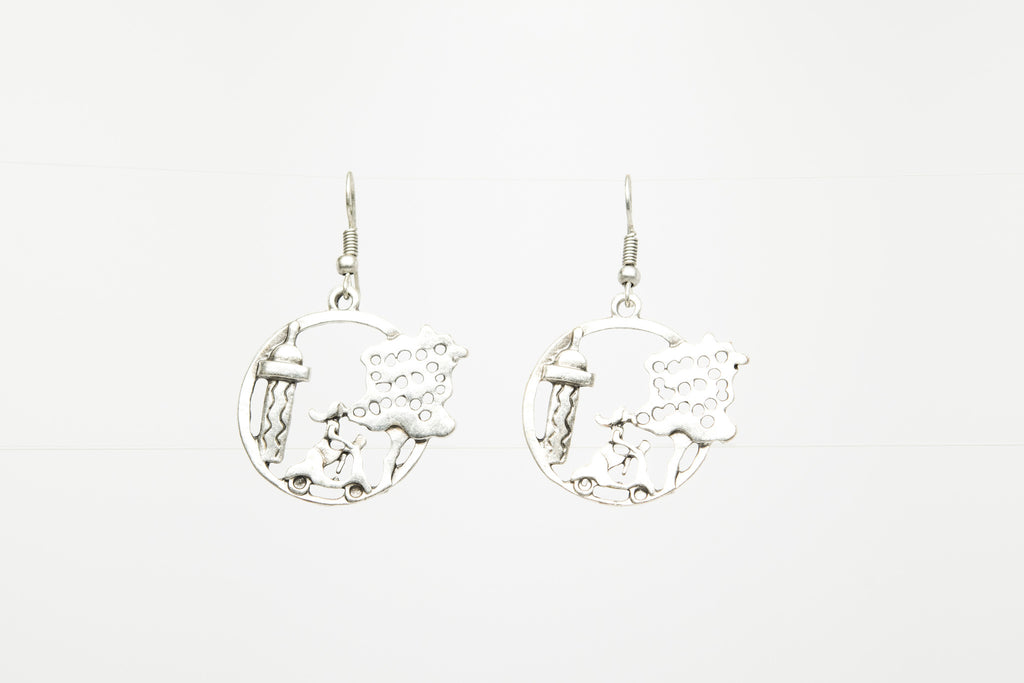 Vespa Silver Plated Dangle Fashion Earrings - Orti Jewelry