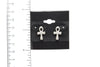 Ankh Silver Plated Stud Fashion Earrings - Orti Jewelry