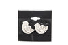 Bird Silver Plated Stud Fashion Earrings - Orti Jewelry