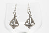 Sailboat Silver Plated Dangle Fashion Earrings
