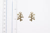 Keys Yellow Stud Fashion Earrings - Orti Jewelry