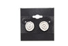 Silver Plated Stud Fashion Earrings - Orti Jewelry