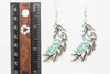 Leaves Silver Plated Dangle Fashion Earrings - Orti Jewelry