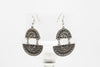 Antique Plate Silver Plated Dangle Fashion Earrings - Orti Jewelry