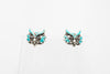 Turquoise Owl Stud Fashion Earrings - Orti Jewelry