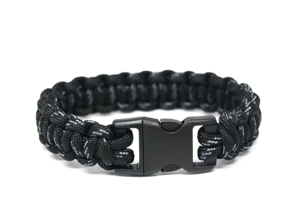 Black with Grey Paracord Bracelet - Orti Jewelry