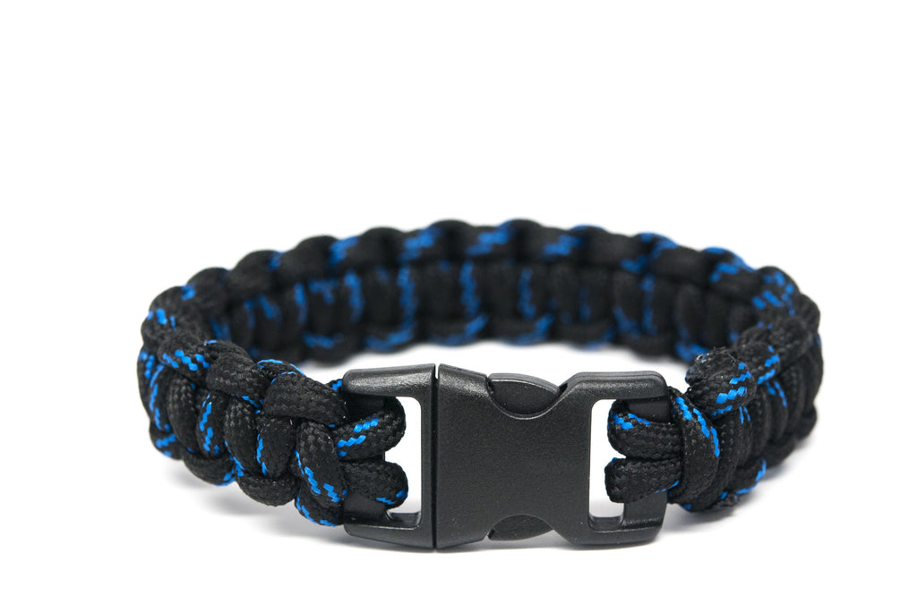 Black with Blue Paracord Bracelet - Orti Jewelry