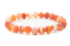 Red Agate Gemstones Beaded Bracelet for Men and Women