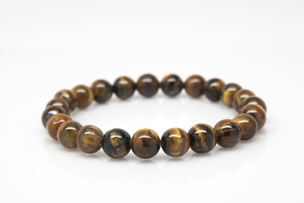 Tigers Eye Stone Unisex Beaded Bracelet - Orti Jewelry
